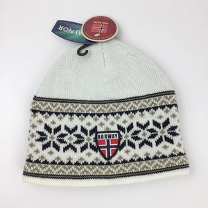 Norway Flag Beanie Hat Embroider Wa Nor Nordic Cap